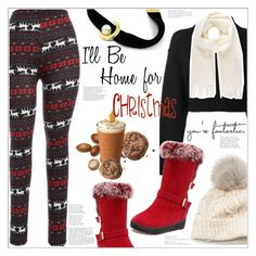 """I'll be Home for Christmas"" by mycherryblossom ❤ liked on Polyvore featuring DKNY, SIJJL and Vivienne Westwood"