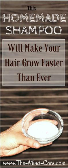 This Shampoo Will Make Your Hair Grow Faster Than Ever( You Should Definitely Try It! Homemade Beauty, Diy Beauty, Beauty Hacks, Beauty Stuff, Beauty Secrets, Deodorant, Homemade Shampoo, Diy Shampoo, Homemade Soaps