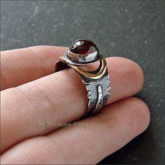 Strukova Elena - the author's jewelry - ring with garnet