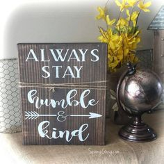 Always Stay Humble And Kind Sign//Pallet Sign//Inspirational Wood Sign Decor//Farmhouse Decor//Country Music Wood Signs//Lyric Signs #Promotion… #PaidAd #ad #affiliatelink