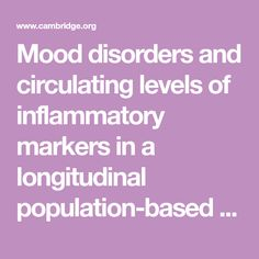 Mood disorders and circulating levels of inflammatory markers in a longitudinal population-based study