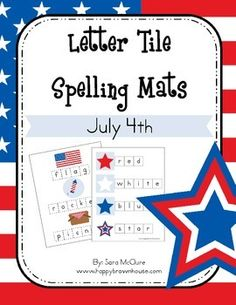 Kids ebook bundle giant sale kid activities activities and this july 4th letter tiles spelling mat is designed to expose young learners to theme vocabulary words letter matching beginning sounds and spelling fandeluxe Images