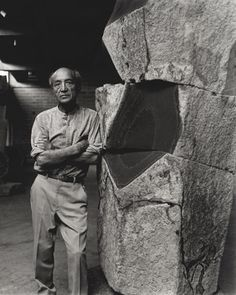 Isamu Noguchi (1904–1988) was one of the twentieth century's most important and critically acclaimed sculptors.  Through a lifetime of artistic experimentation, he created sculptures, gardens, furniture and lighting designs, ceramics, architecture, and set designs.  His work, at once subtle and bold, traditional and modern, set a new standard for the reintegration of the arts.