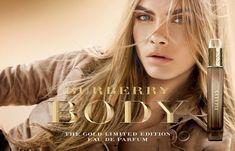 Burberry Body Gold Edition - Notas em pêssego, freesia e absinto em um coração com flores íris, rosa e sândalo em base que mescla cashmere, musk, âmbar e baunilha.