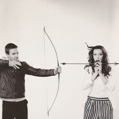Arrow's Stephen Amell and Katie Cassidy.