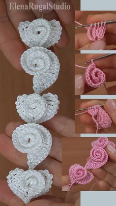 Crochet Heart and Scroll Pattern Tutorial 181 - Crochet Heart and Scroll Pattern Tutorial 181 Crochet Heart and Scroll were made with Crochet Hook mm (which is US standard) or mm and with yarn: Cotton, Col Crochet, Crochet Cord, Crochet Lace Edging, Thread Crochet, Crochet Crafts, Crochet Flowers, Crochet Projects, Freeform Crochet, Crochet Butterfly Pattern