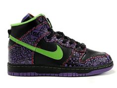super popular c3543 ae852 Nike Dunk High Top Premium QK Day of the Dead Black sprinter green Shoes Nike  Dunks