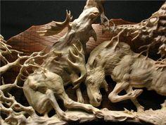 Moose antler carvingsHorn And Antler Carvings More Like This At FOSTERGINGER @ Pinterest Lesbianlovers3 ✖️⚫️✖️