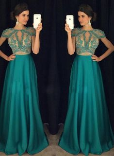 Prom Dress Princess, Green A-line bead chiffon long prom dress, green evening dress Shop ball gown prom dresses and gowns and become a princess on prom night. prom ball gowns in every size, from juniors to plus size. Classy Prom Dresses, V Neck Prom Dresses, Long Prom Gowns, Beaded Prom Dress, Beaded Chiffon, Formal Dresses, Dress Lace, Dresses Uk, Green Evening Dress