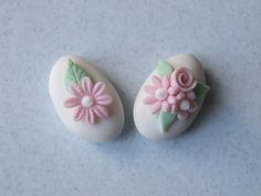 Muccasbronza: Confetti decorati : rosa pallido per un bimba in arrivo