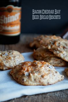Bacon Cheddar Bay Beer Bread Biscuits