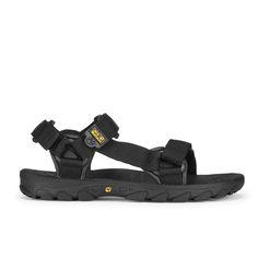 Jack Wolfskin Men's Seven Seas Walking Sandals - Black Winter Outfits, Cool Outfits, Man On The Moon, Sport Wear, Velcro Straps, Seas, Black Sandals, Walking, Mens Fashion
