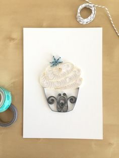 Frozen Inspired White Silver Cupcake with Snowflake Wall Decor, Silver Winter Decorations, Snow Home Decor, Gifts Under 30, Gift for Chef by ThePaperyCraftery on Etsy