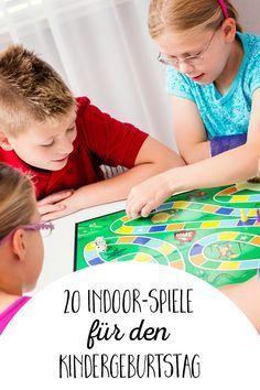 20 Ideen für Indoor-Spiele am Kindergeburtstag - von der Gespensterjagd bis hin zum Zauber-Paket.