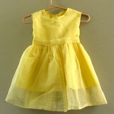 vintage yellow party dress