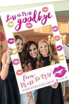 Bachelorette Party Photo Prop Frame - Bachelorette Party - Kiss The Miss Goodbye Printable DIGITAL FILE - Bachelorette Party Decor, Bachelorette Party Games #bacheloretteparty #bacheloretteparties #weddings #weddingdresses #bridesmaids