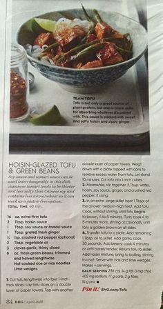 Hoisin glazed tofu & green beans