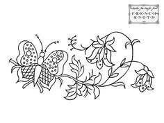 free hand embroidery patterns | Vintage Butterfly Hand Embroidery Transfer Patterns