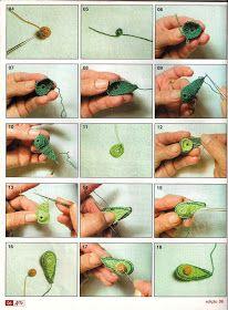 Barradinho de frutas em croche - passo a passo