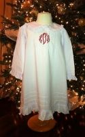 Child/Toddler Classic White Cotton  christmas Nightgown  Www.firstcomeslove.net