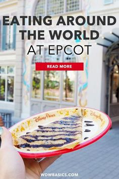 Eating Around the World at Epcot // WDW Basics // One day at Walt Disney World we ate a snack at every Epcot World Showcase country pavilion. This is our story, our plan, and the outcome of snacking around the world at Epcot. // PIN THIS and TAP TO READ #epcotfood #epcot Disney World Guide, Disney World Food, Disney World Florida, Disney World Parks, Disney World Tips And Tricks, Disney Tips, Disney Ideas, Disney World Tickets, Walt Disney World Vacations