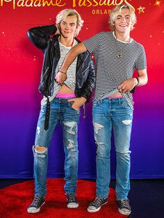 Austin & Ally star (and R5 singer... Austin & Ally star (and R5 singer) Ross Lynch dressed just like his wax figure -- minus the leather jacket but right down to his pink skivvies at the unveiling of his figure at Madame Tussauds in Orlando.