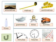 mesure Learn French, Ms Gs, Learning, School, Shapes, Logo, French Language, Units Of Measurement, Primary Classroom