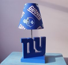 New York Giants Desk Or Table Lamp Base   Sports Lamp Base   Sports, Bedroom  Or Den Decor
