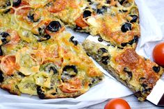 Super zdravý cuketový koláč s chia Vegetarian Recipes, Healthy Recipes, Bread And Pastries, Pavlova, Vegetable Pizza, Baking Recipes, Food And Drink, Low Carb, Yummy Food