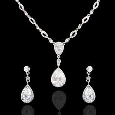 Maybe for your mom. @Sharon McCaughan Vintage Wedding Dual Drop Zircon Necklace Earring Set by Annamall, $29.99