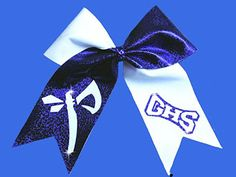 Make Cheer Bows With Two Color Glitter School Letters And Mascots.