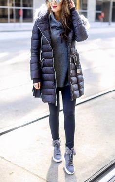 Puffer Coat and Grey
