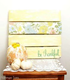 Be Thankful Faux Pallet Art » Flamingo Toes