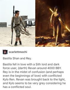"""And if ever there was a conflicted light/dark character, it was Revan, and now Kylo... Maybe all the """"Kylo Ren is Revan!"""" theories were right..."""