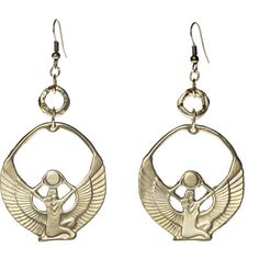 Alkemie Egyptian Isis Earrings ($154) ❤ liked on Polyvore featuring jewelry, earrings, accessories, alkemie, alkemie jewelry, egyptian earrings, egyptian-inspired jewelry and long earrings