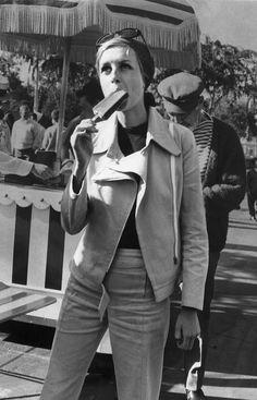 Even celebrities scream for ice cream: Twiggy, 1967.