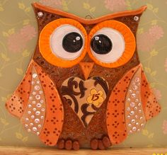 'Crafty Dough' on FaceBook This is one of my handmade owls from Salt Dough