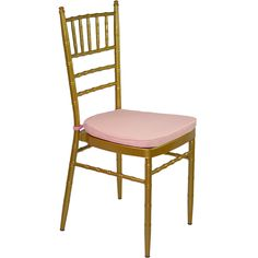 Gold Tiffany Chair with Pink Cushion