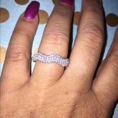 "Selling this ""Stunning wedding band silver 925- 3 Rows CZ"" in my Poshmark closet! My username is: vrivera986. #shopmycloset #poshmark #fashion #shopping #style #forsale #Jewelry"