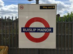 """See 14 photos and 4 tips from 356 visitors to Ruislip Manor London Underground Station. """"If you can take the Metropolitan line in the summer months. London Underground Train, London Underground Stations, Metropolitan Line, London Street, Street Signs, Homeland, Badges, Four Square, Trains"""