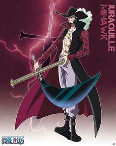 Poster affiche One Piece Grand Corsaire Shichibukai Juraquille Mihawk 40 x 50 cm