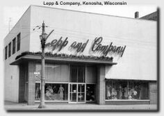 Lepp and Company (fine womens store) at Sixth Ave. & 56th St. (downtown Kenosha, WI). Destroyed by fire.