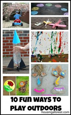 10 Fun Ways to Play Outdoors that your kids will love!