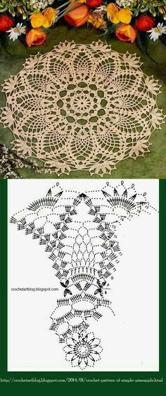 Vintage thread doily