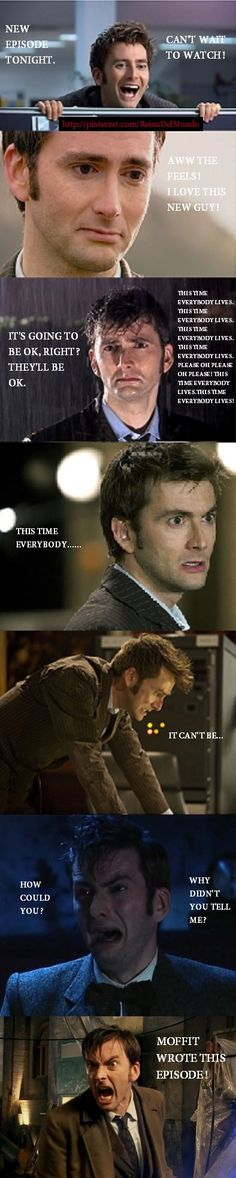 Watching Doctor Who. This is exactly what happened to me over the course of the Tenth Doctor's tenure. Ah, my hearts!