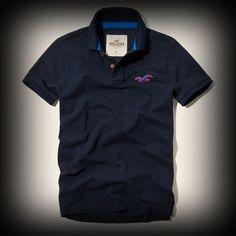 Hollister メンズ ポロシャツ  ホリスター Sycamore Cove Polo ポロシャツ★シンプルポロシャツをお洒落に着こなしてみませんか? ★ホリスターを代表するロゴマークが刺繍されています。