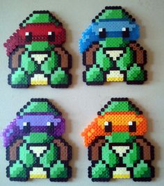 Perler Beaded Baby Ninja Turtles!