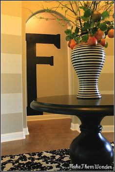 Easy way to make a HUGE impact...paint a giant letter on the wall!