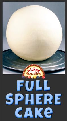 How to Make a Half Sphere Cake - Wicked Goodies Cake Decorating Icing, Creative Cake Decorating, Creative Cakes, Decorating Ideas, Cake Icing, Buttercream Cake, Pokeball Cake, Globe Cake, Beach Ball Cake