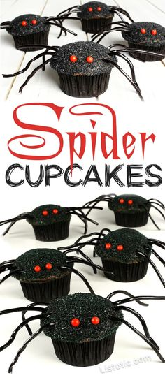 Easy Spider Cupcakes for kids and adults! The perfect Halloween party food and creepy Halloween treats!